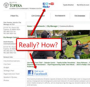 screenshot of City of Topeka website